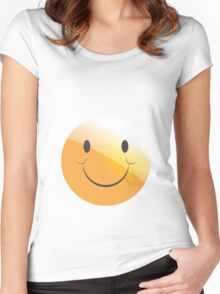 emotion smile  Women's Fitted Scoop T-Shirt