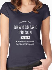 Property of Shawshank Prison T-Shirt Women's Fitted Scoop T-Shirt