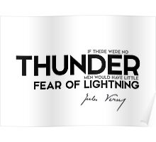 thunder, fear of lightning - jules verne Poster