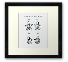 Lego Man Patent 1979 Page 2 Framed Print