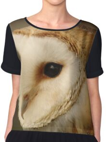 Barn Owl Portrait Chiffon Top
