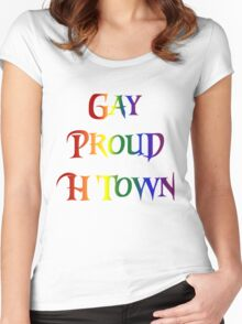 Gay Pride H Town Women's Fitted Scoop T-Shirt