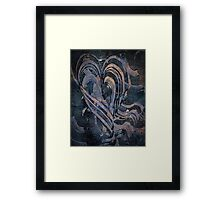 Heart Abstract by Laura L. Leatherwood Framed Print