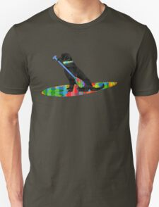 Colorful Stand Up Paddle Board Preppy Black Lab Unisex T-Shirt