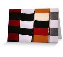 Checkerboard of Knit Scarves Greeting Card