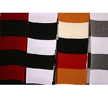 Checkerboard of Knit Scarves Photographic Print