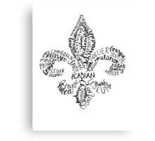 Cajun Fleur de Lis Canvas Print