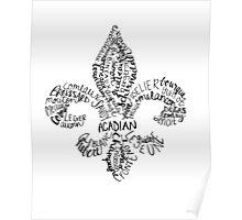 Cajun Fleur de Lis Poster