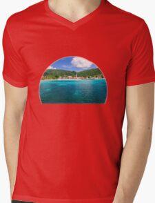 Tropical Coast Mens V-Neck T-Shirt