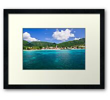 Tropical Coast Framed Print