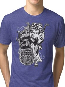 Side Show Freaks - Juanita Siamese Spider Lady Tri-blend T-Shirt