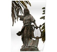Statue in San Francisco Park Poster