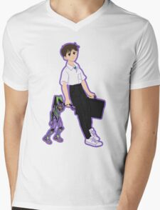 01 Shinji Ikari Mens V-Neck T-Shirt