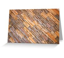 Narrow Brick Facade Greeting Card