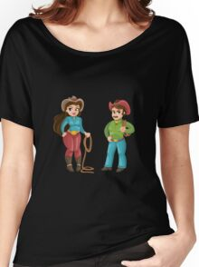 couple cowboys  Women's Relaxed Fit T-Shirt