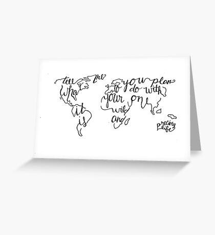 Wild & Precious World Greeting Card
