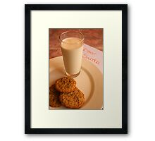 Chocolate Chip Cookies and Santa's Letter Framed Print