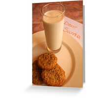 Chocolate Chip Cookies and Santa's Letter Greeting Card