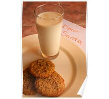 Chocolate Chip Cookies and Santa's Letter Poster