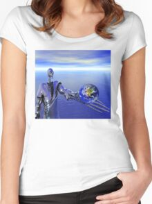 Rise of the Machines Women's Fitted Scoop T-Shirt