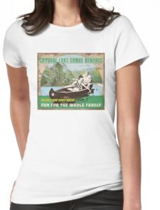 Crystal Lake Canoe Rentals Womens Fitted T-Shirt