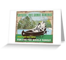 Crystal Lake Canoe Rentals Greeting Card