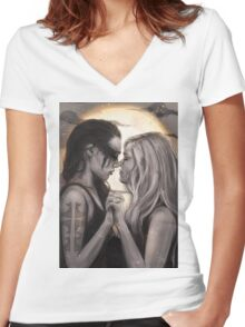 Moonlight Women's Fitted V-Neck T-Shirt
