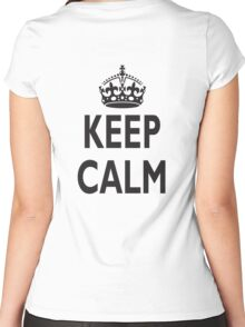 KEEP CALM, BE BRITISH, BRITISH, United Kingdom, UK, GB, WWII Women's Fitted Scoop T-Shirt