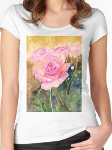 Rose Garden Impressionist Women's Fitted Scoop T-Shirt