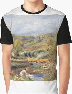 Renoir Auguste - The Washerwoman Graphic T-Shirt