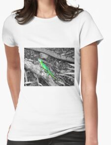 Colorized Lizard Womens Fitted T-Shirt