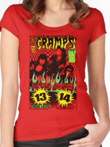 The Cramps (Seattle & Portland shows) Colour 2 Women's Fitted Scoop T-Shirt