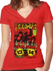The Cramps (Seattle & Portland shows) Colour 2 Women's Fitted V-Neck T-Shirt