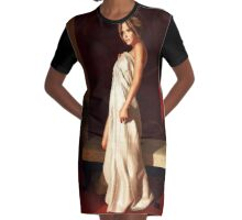 Beautiful woman in morning light Graphic T-Shirt Dress