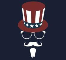 Hipster Uncle Sam Baby Tee