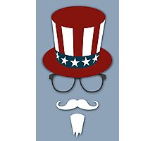 Hipster Uncle Sam Photographic Print