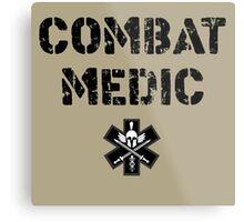 Combat Medic in tan Metal Print