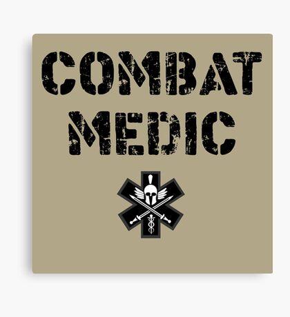 Combat Medic in tan Canvas Print