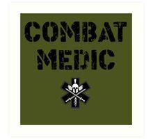 Combat Medic in olive drab Art Print