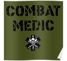 Combat Medic in olive drab Poster