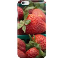Fresh Strawberries at the Farmers Market iPhone Case/Skin