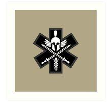 Combat Medic Emblem Art Print