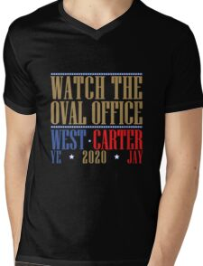 Watch The Oval Office - Multicolored Mens V-Neck T-Shirt