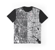 Madrid city map black&white Graphic T-Shirt