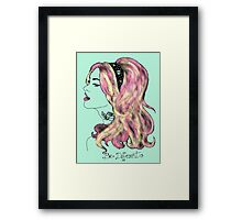 """She wants to be different in """"Tiffany's blue"""" Framed Print"""