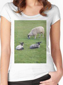 The Lambs with Mum Women's Fitted Scoop T-Shirt