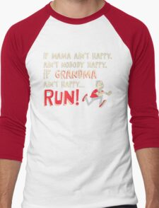 RUN !!! Men's Baseball ¾ T-Shirt