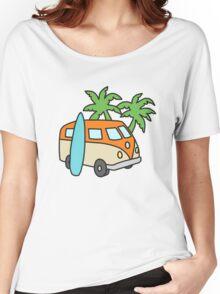 Retro Beach Scene Women's Relaxed Fit T-Shirt