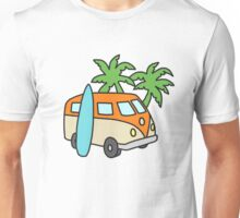 Retro Beach Scene Unisex T-Shirt