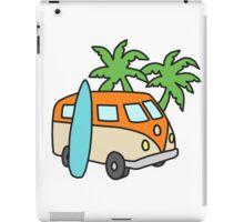 Retro Beach Scene iPad Case/Skin